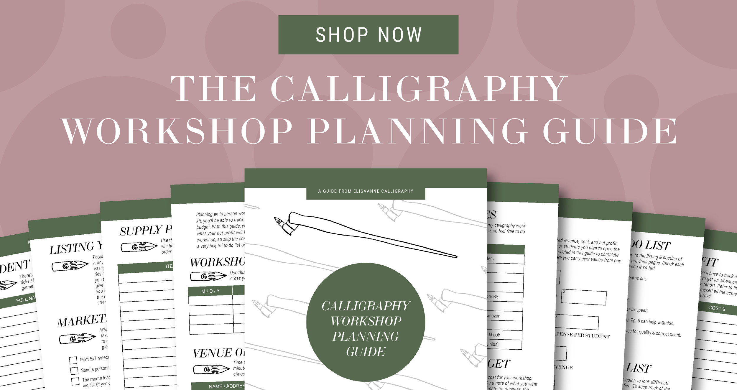 calligraphy workshop planning guide, workshop planning, how to plan a workshop, planning a calligraphy workshop