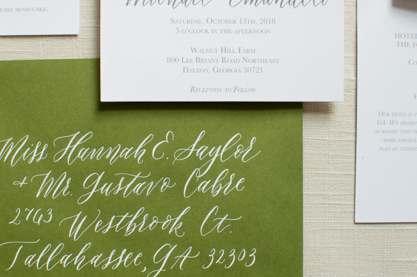 Our guests LOVED receiving the calligraphy addressed invitations in the mail!