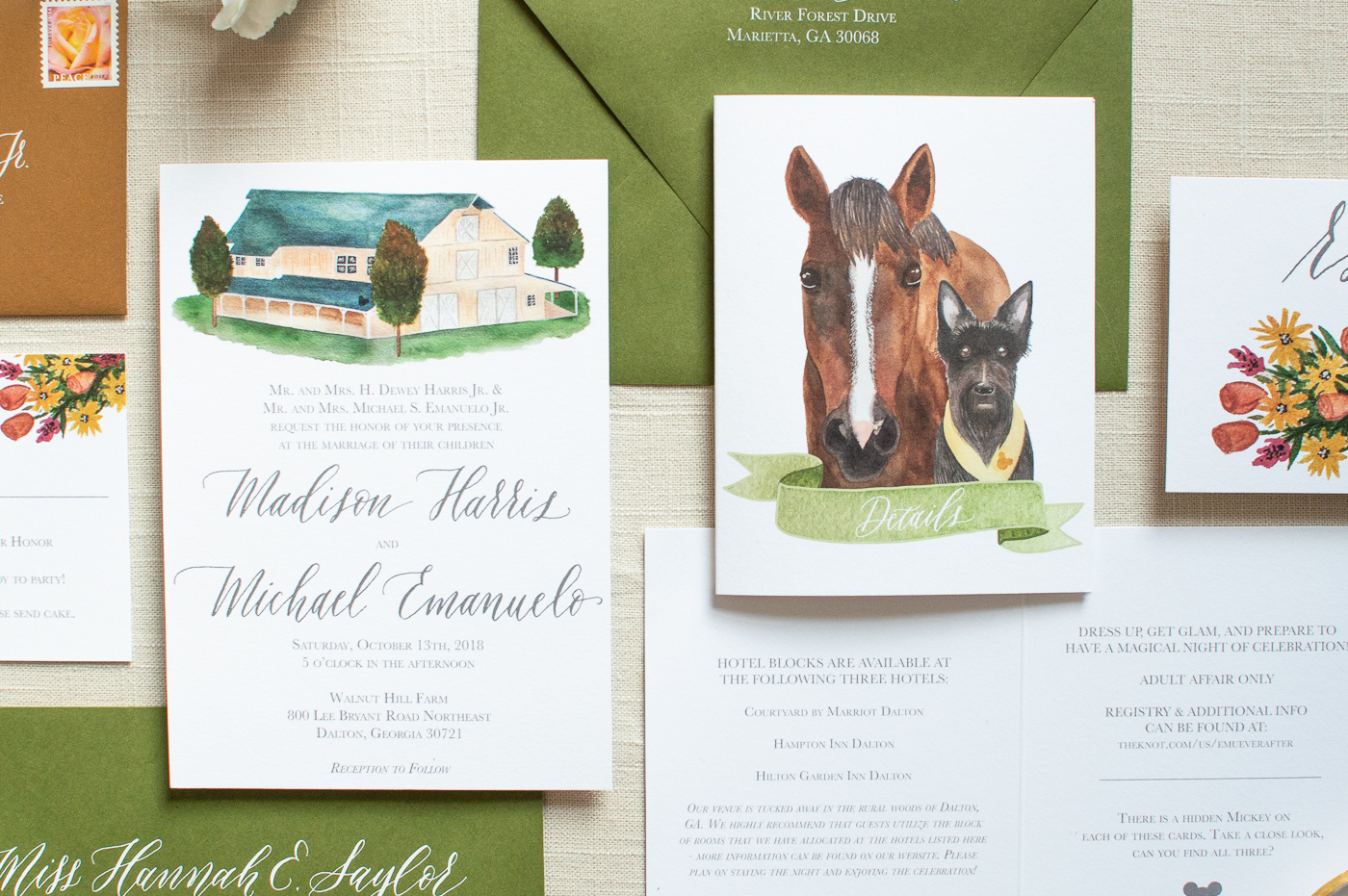 The animal illustrations were our favorite detail about our invitations!