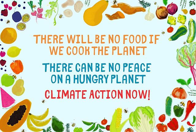 Climate action is crucial for healthy, sustainable food systems. This Friday we'll be on the streets for the #schoolstrikeforclimate - whenever you are we hope you'll be out on the streets demanding climate leadership 🍎🍐🍅🥒🌶🍋 if you'd like to use this banner DM us and we can send you the file 👩🏼🎨= @sophielamond