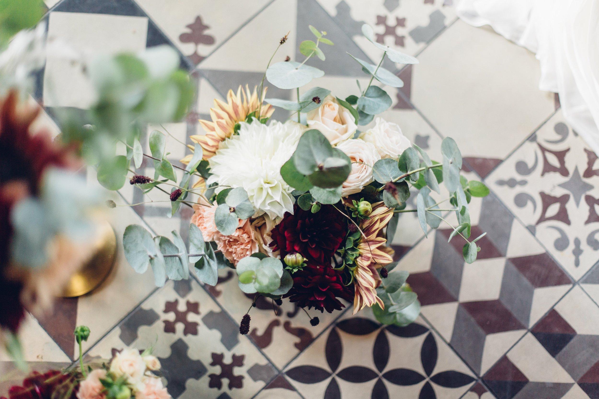 Chicago Wedding Elopement Elope Wedding Flowers Floral Tile