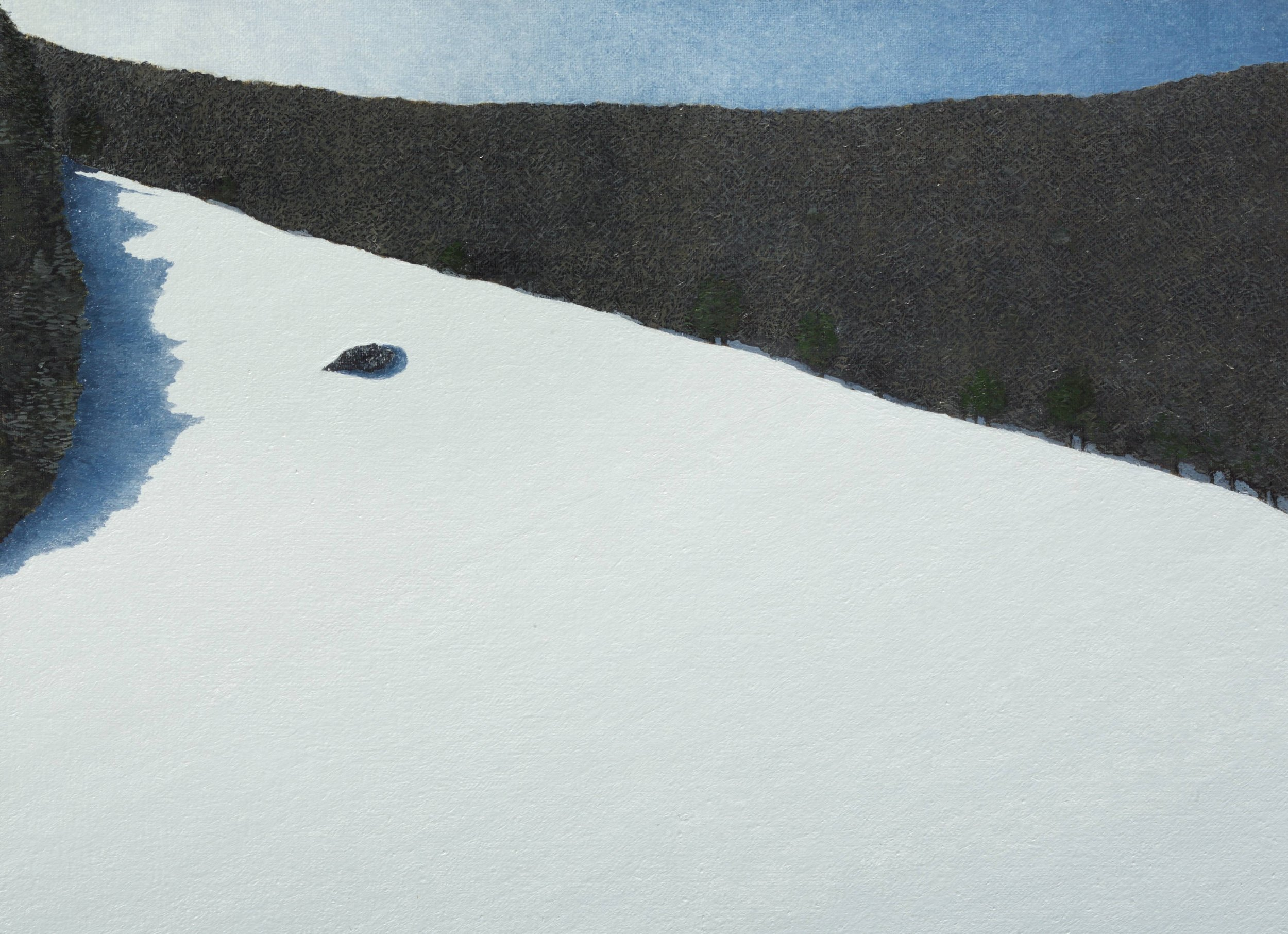 Rock and Snow With Shadows