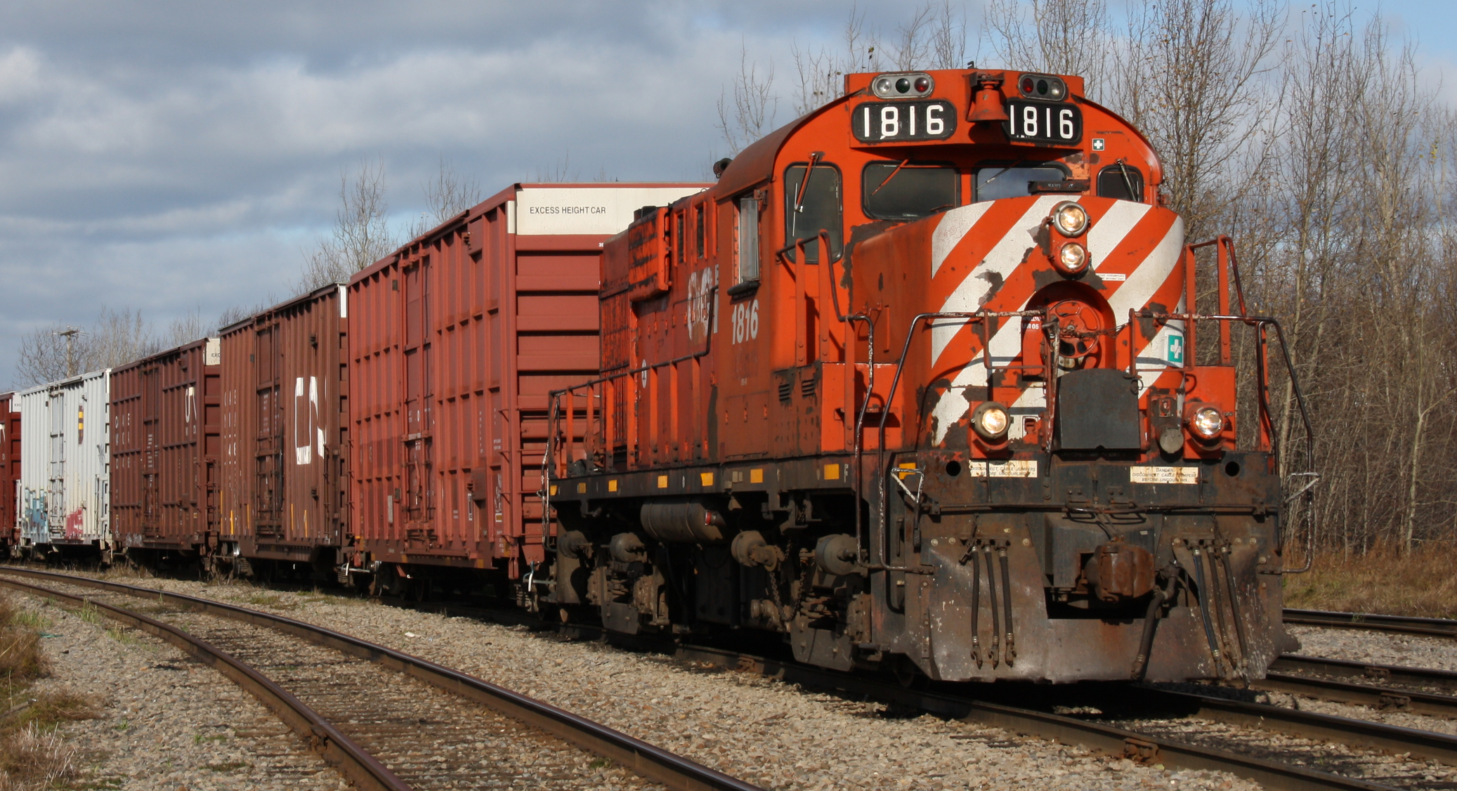 . : Protect during rail transport