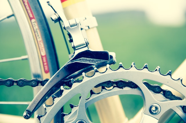 Bicycle chain and gear.