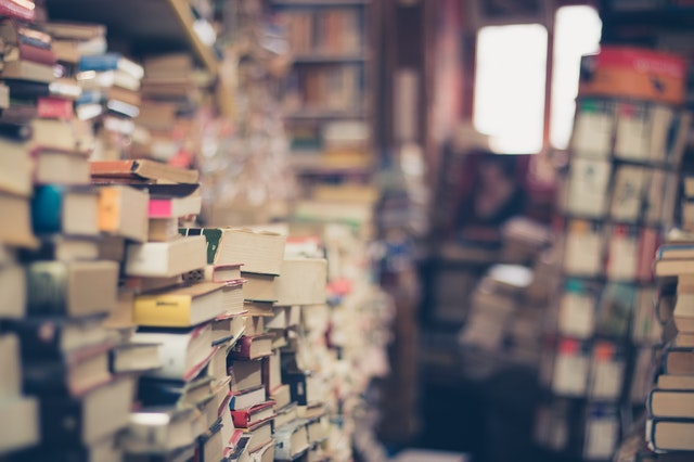 A picture of books stacked up!