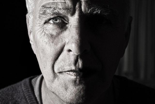 a photo of an older mans face