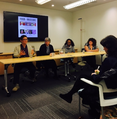 Food + Museums Panel at the NYU Steinhardt School: Nutrition and Food Studies Department, photo courtesy  @ NYU_NFSPH