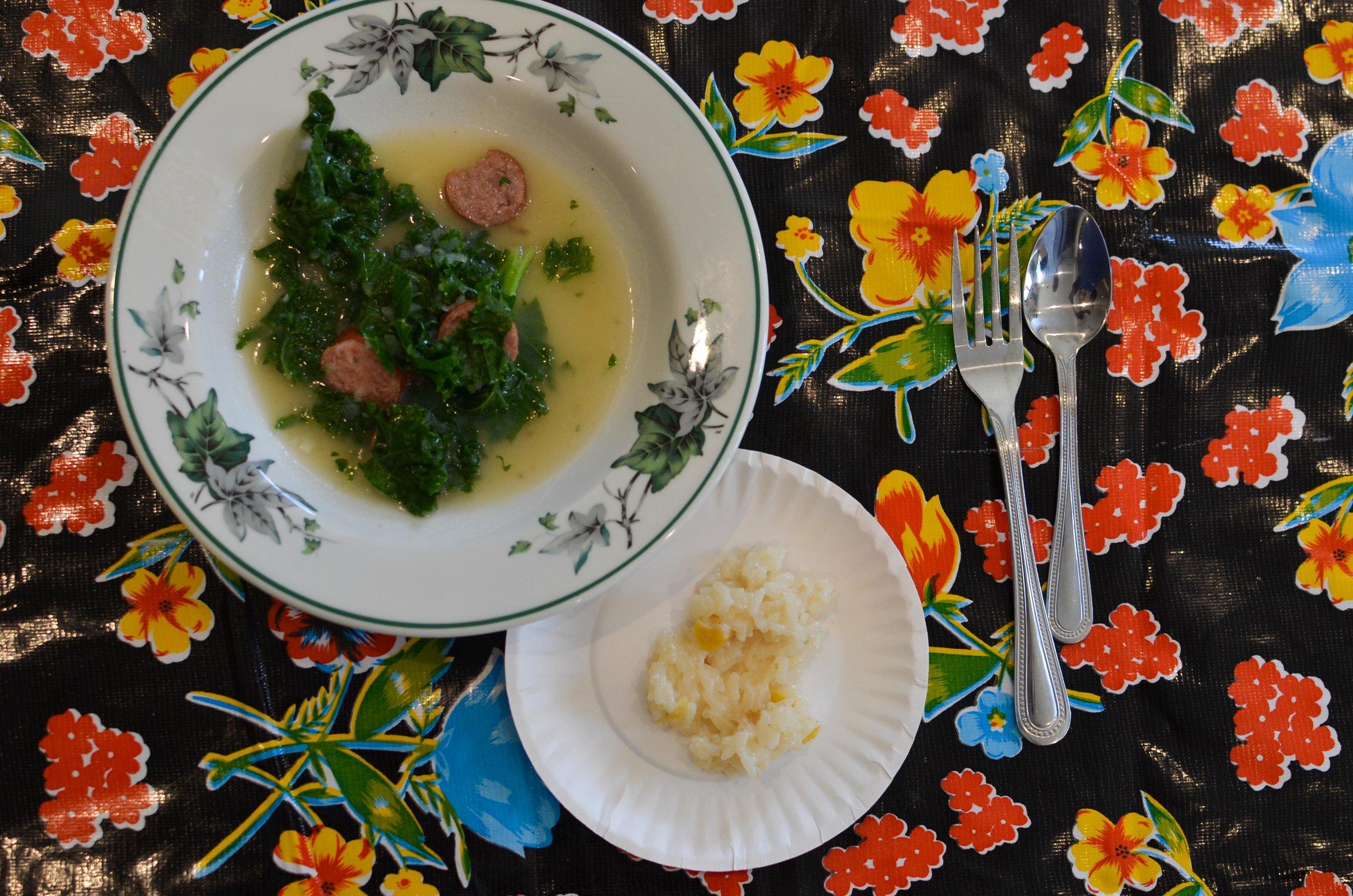 Caldo Verde and Arroz Doce