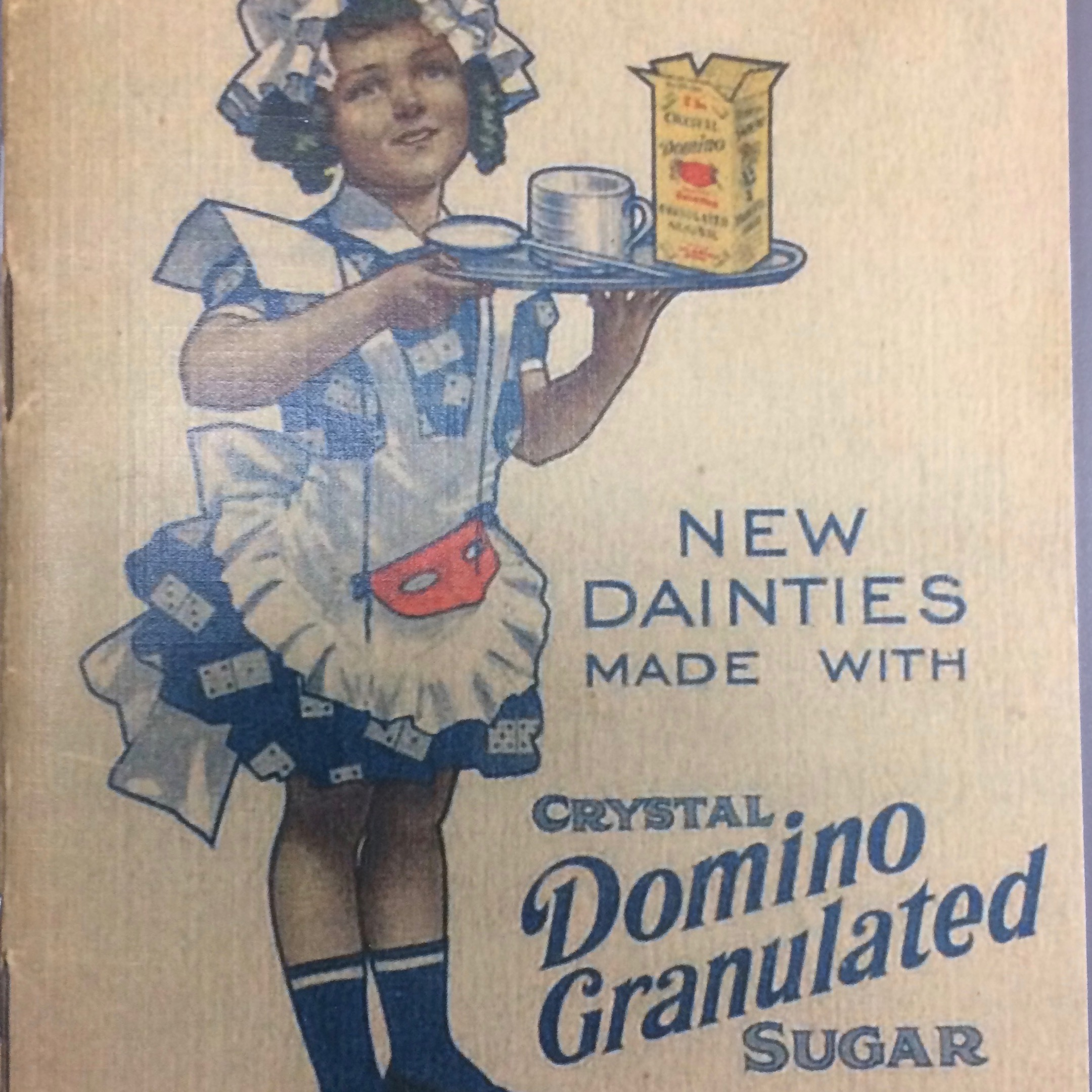 "Domino Foods Collection - This collection includes a photo book on the sugar refining process and the history of the Domino Foods company, including a copy of the ""New Dainties"" pamphlet (pictured left). There are also materials related to the Chalmette Refinery centennial and Schwegmann's Deli.See an item-level PDF finding aid."