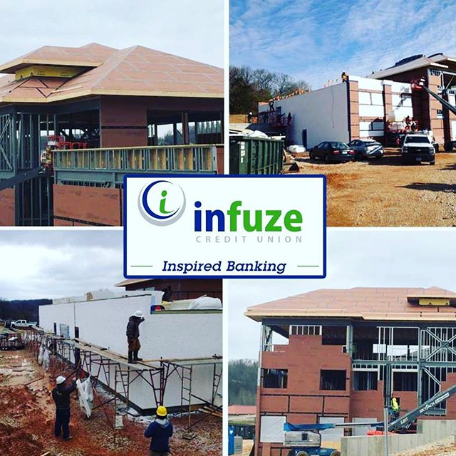 Infuze Credit Union project progress in Waynesville, MO.