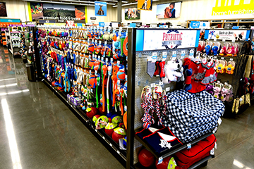 Petco - The store offers pet toys, food and apparel as well as a salon, dog training area, clinic and adoption center.