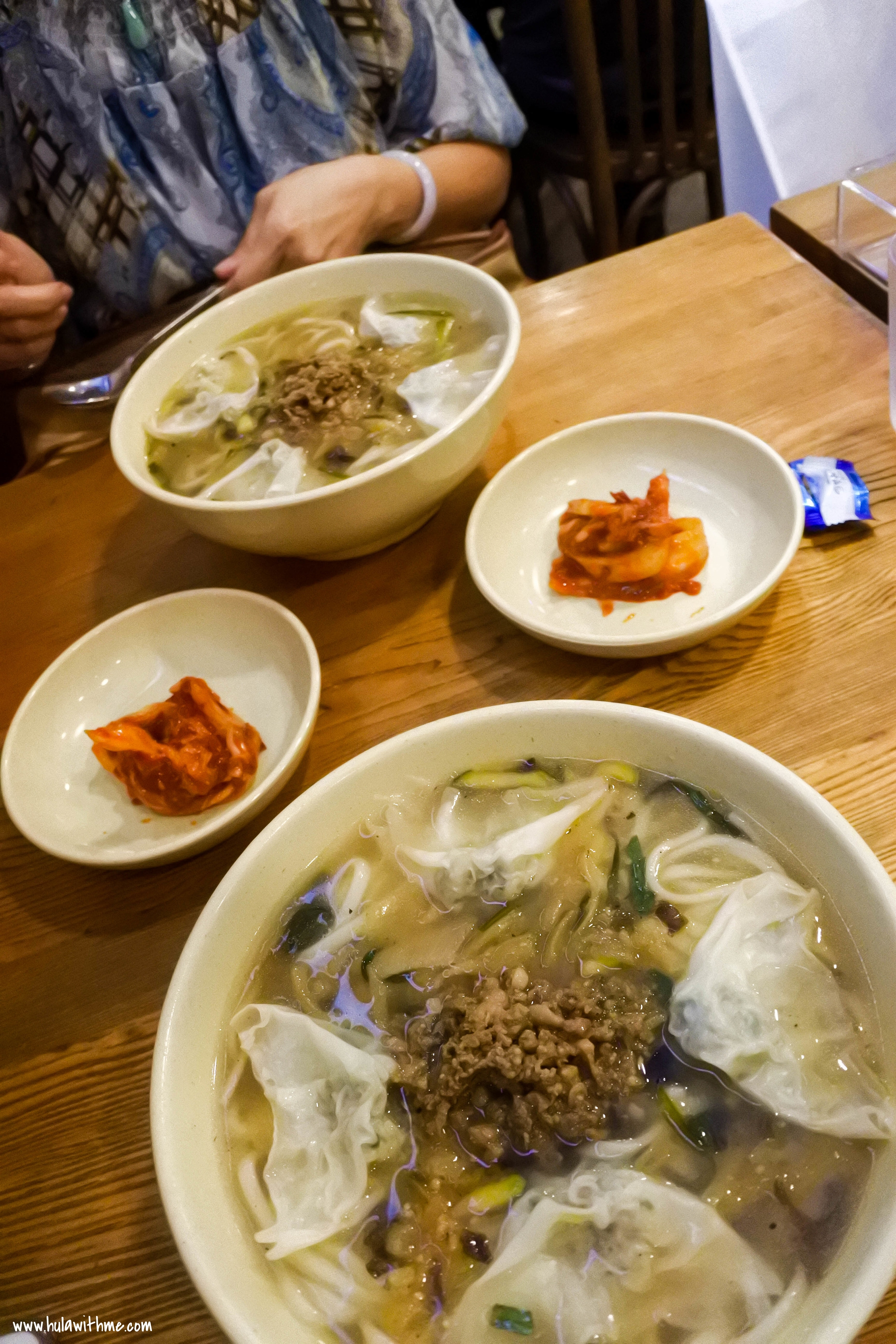 Each order comes with a small serving of kimchi.  Perfect compliment to the noodle dish.