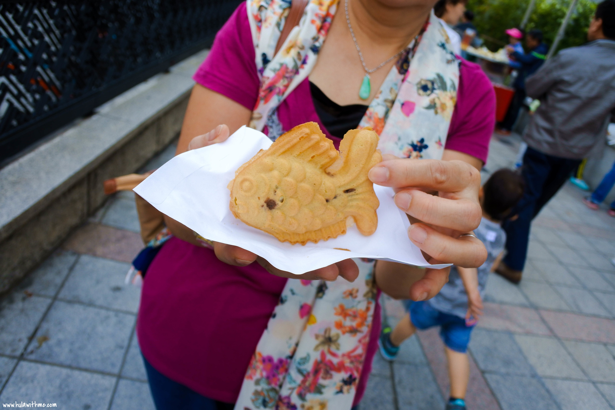 Seoul street food - Sweet Red Bean Bread