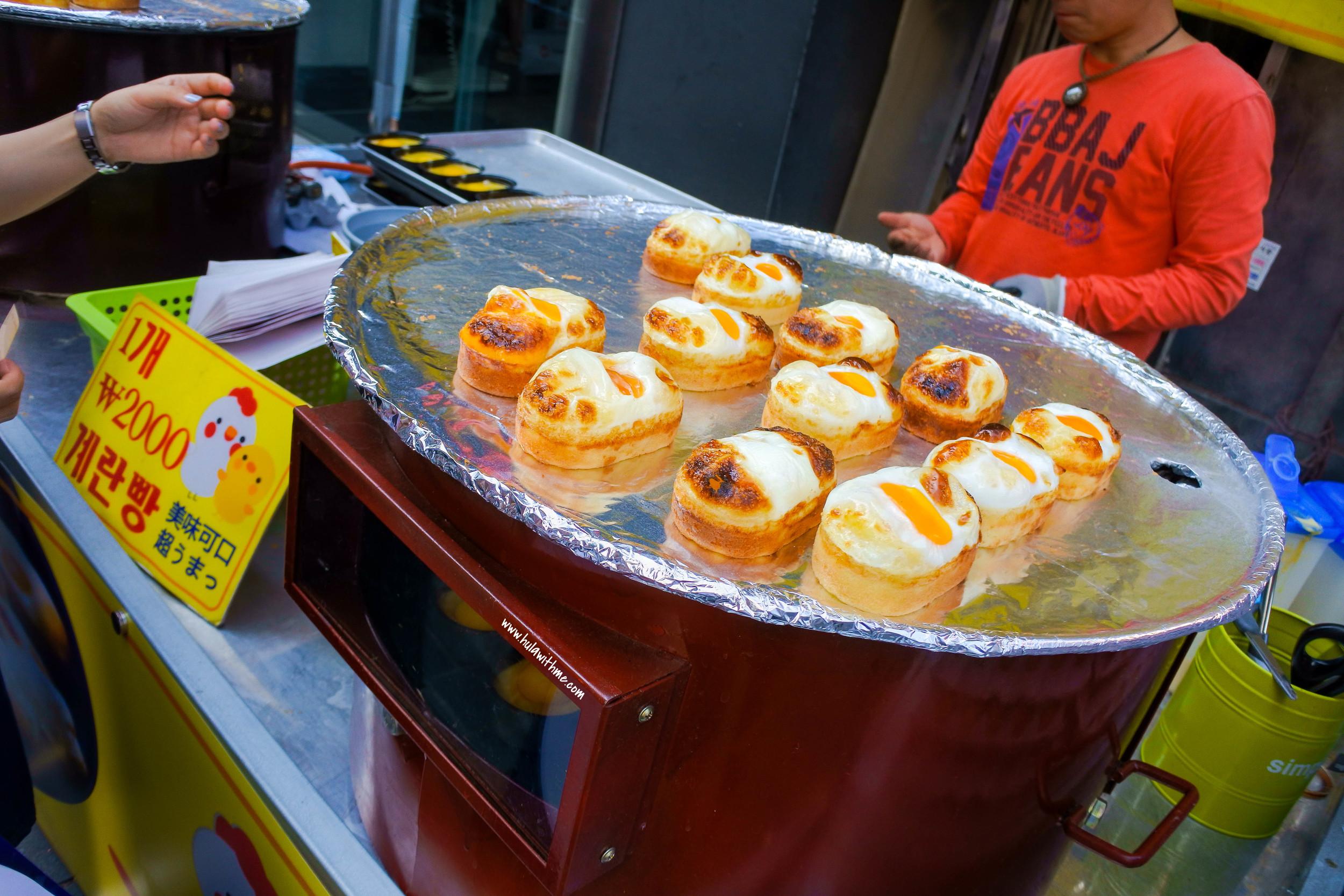 Seoul street food - The Egg Bread