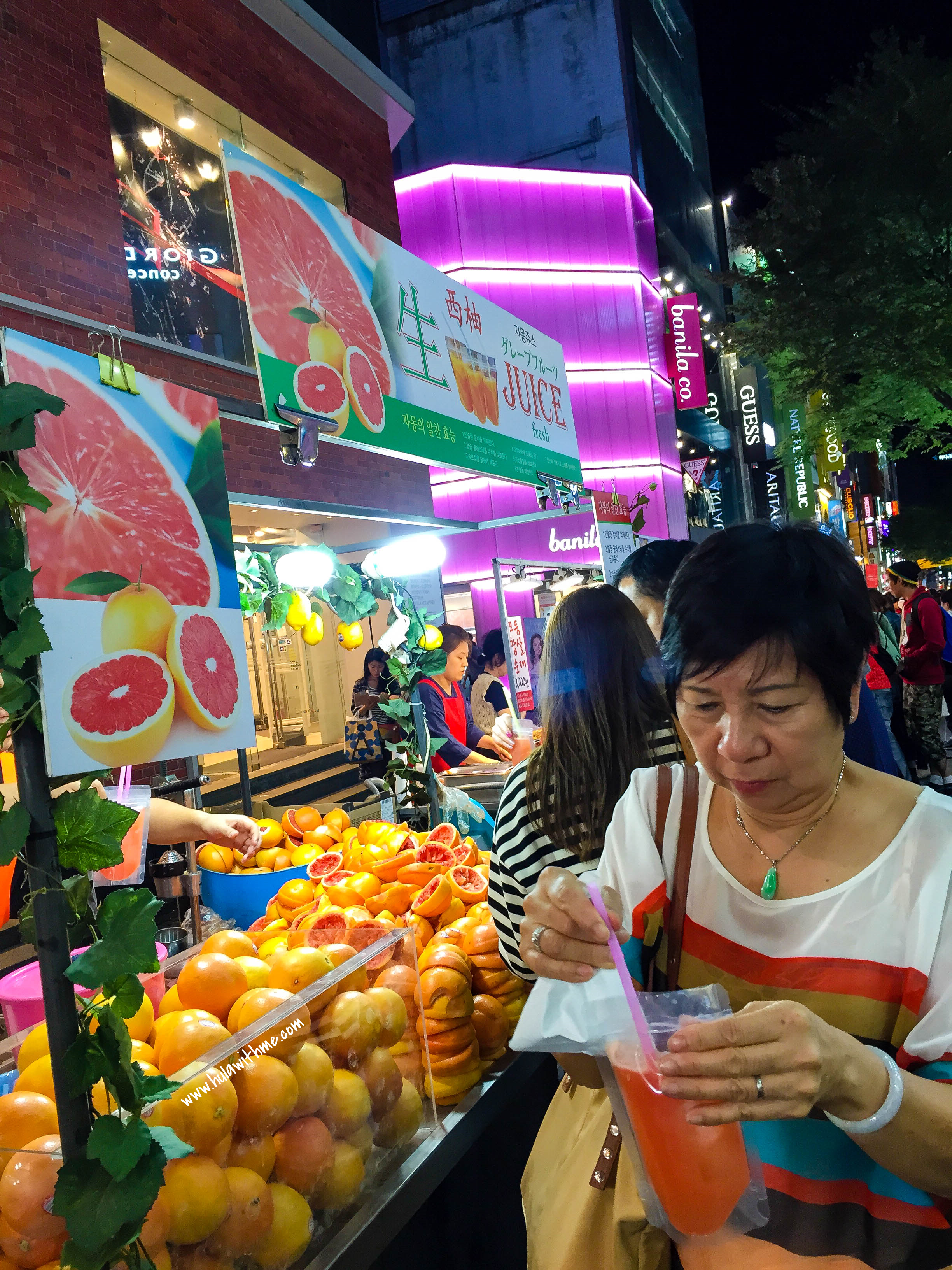 Seoul street food - The Juice Stand