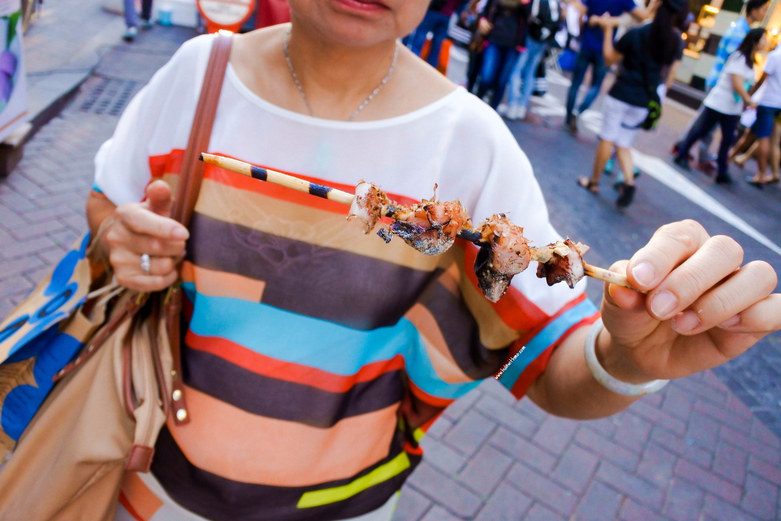 Seoul street food - Grilled squid