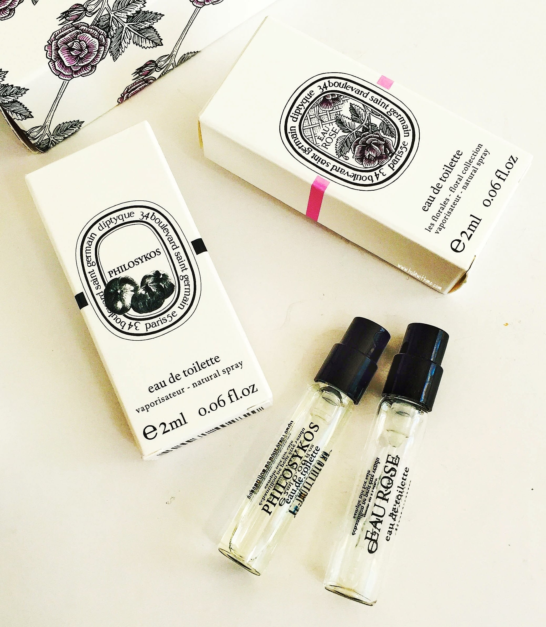 Diptyque Paris Eau de Toilette sample/trial size.