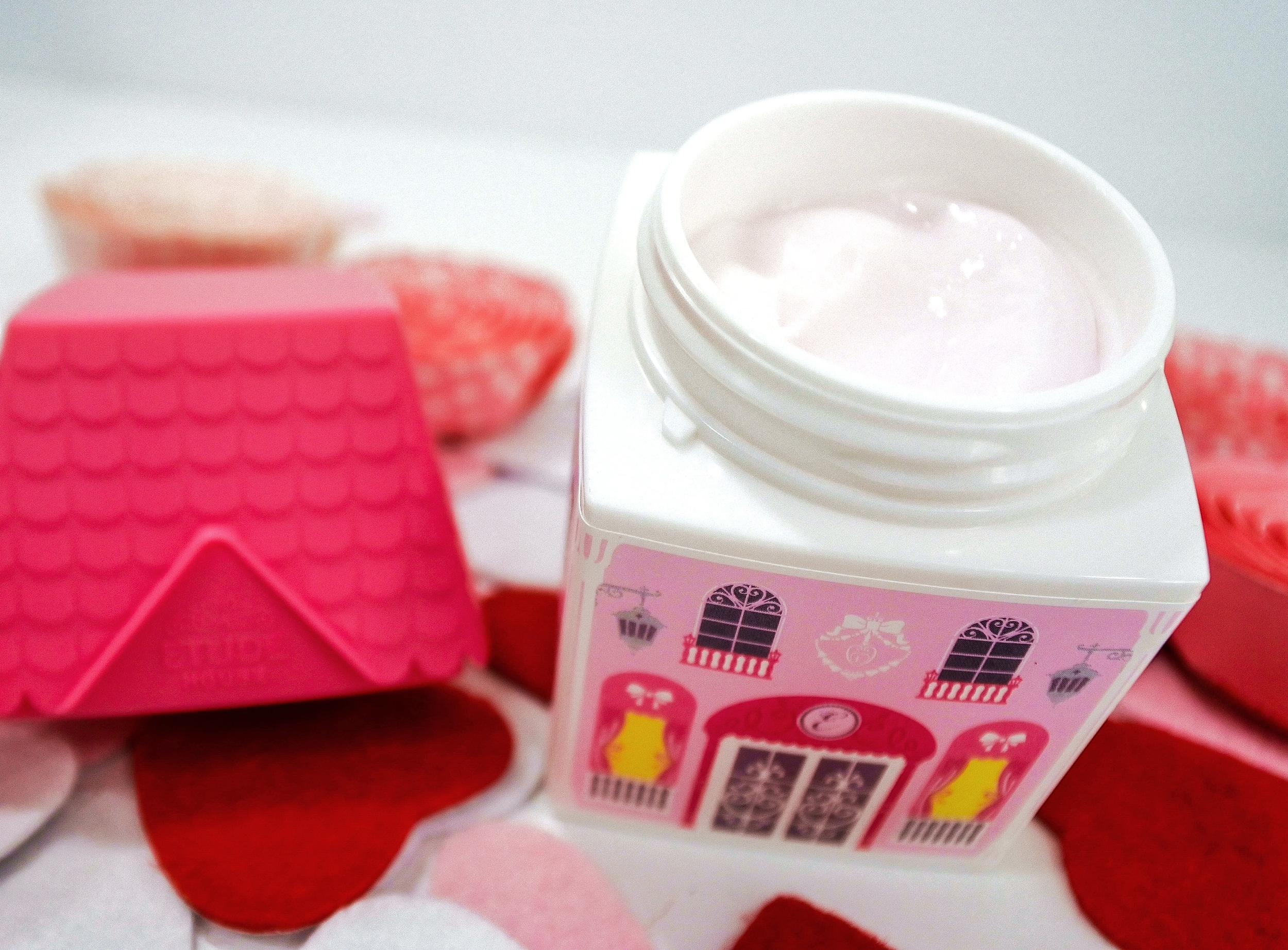 Etude House My Castle Hand Cream - Inside look of the cream texture.