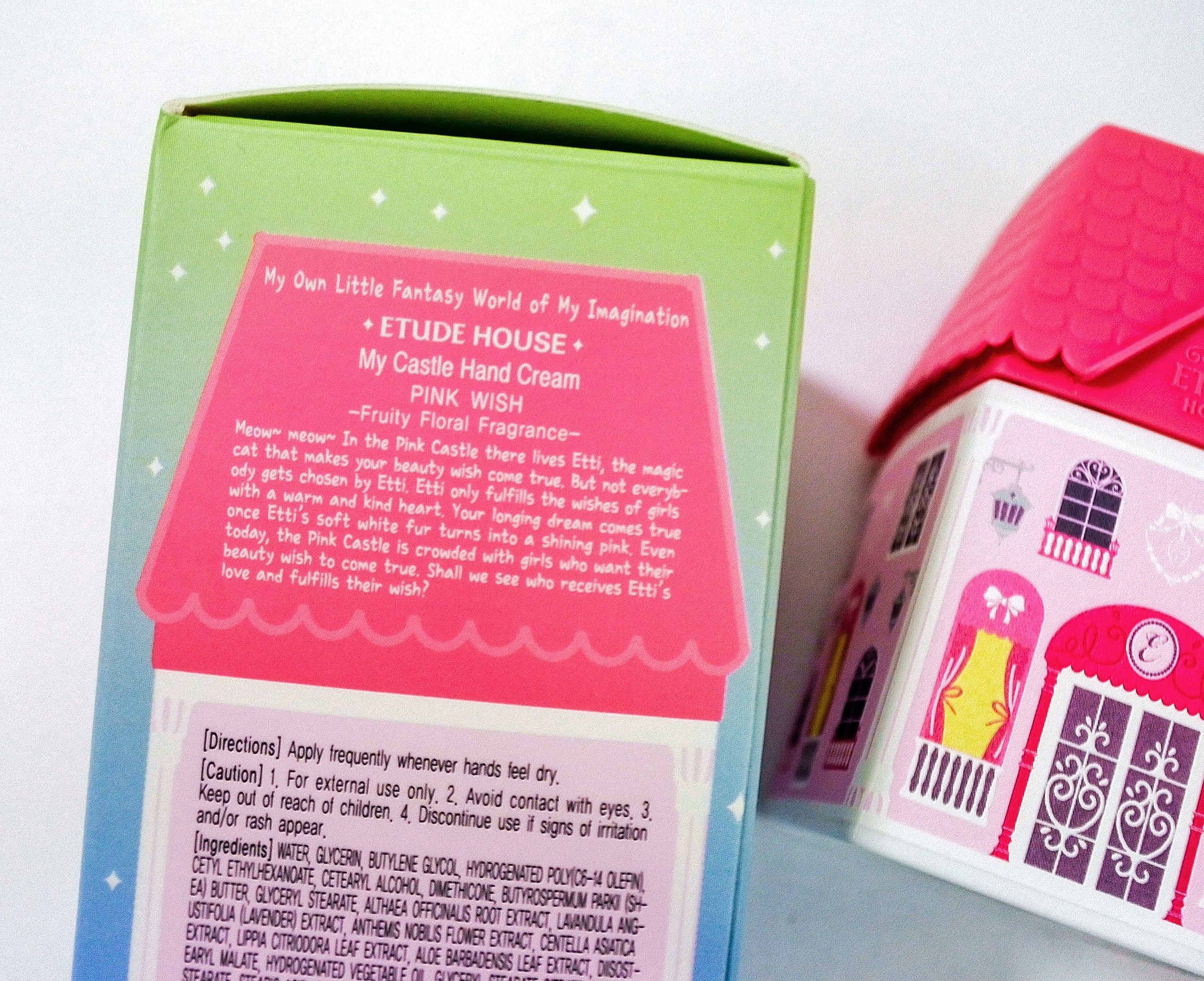 Etude House My Castle Hand Cream - The background story of Etti the Cat.