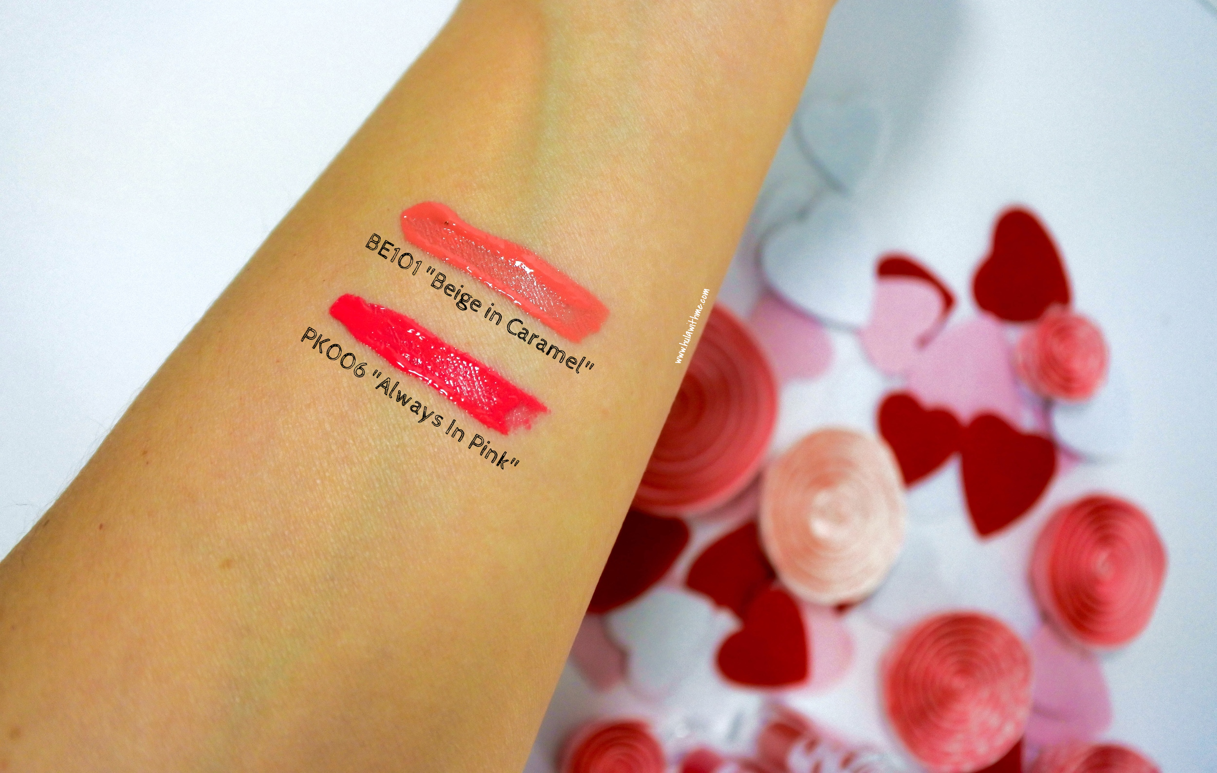 Color swatch: Etude House Color In Liquid Lips