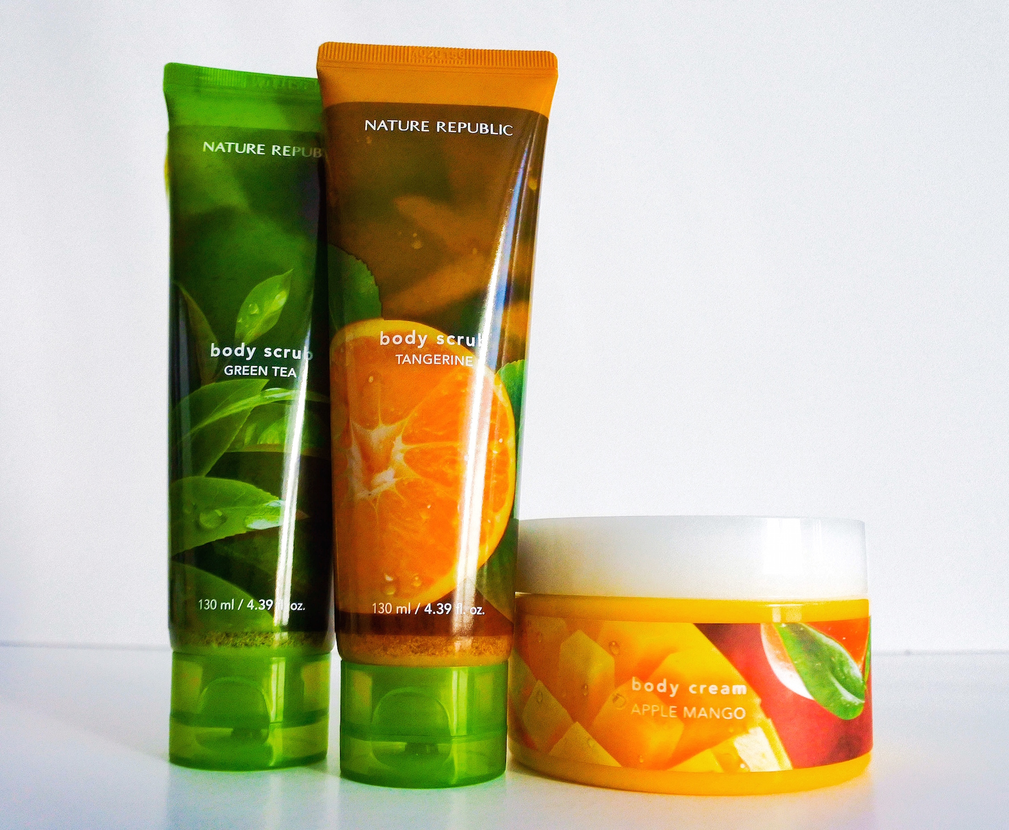 Reviewing Nature Republic Body Care Products:  Body Scrub, Body Cream