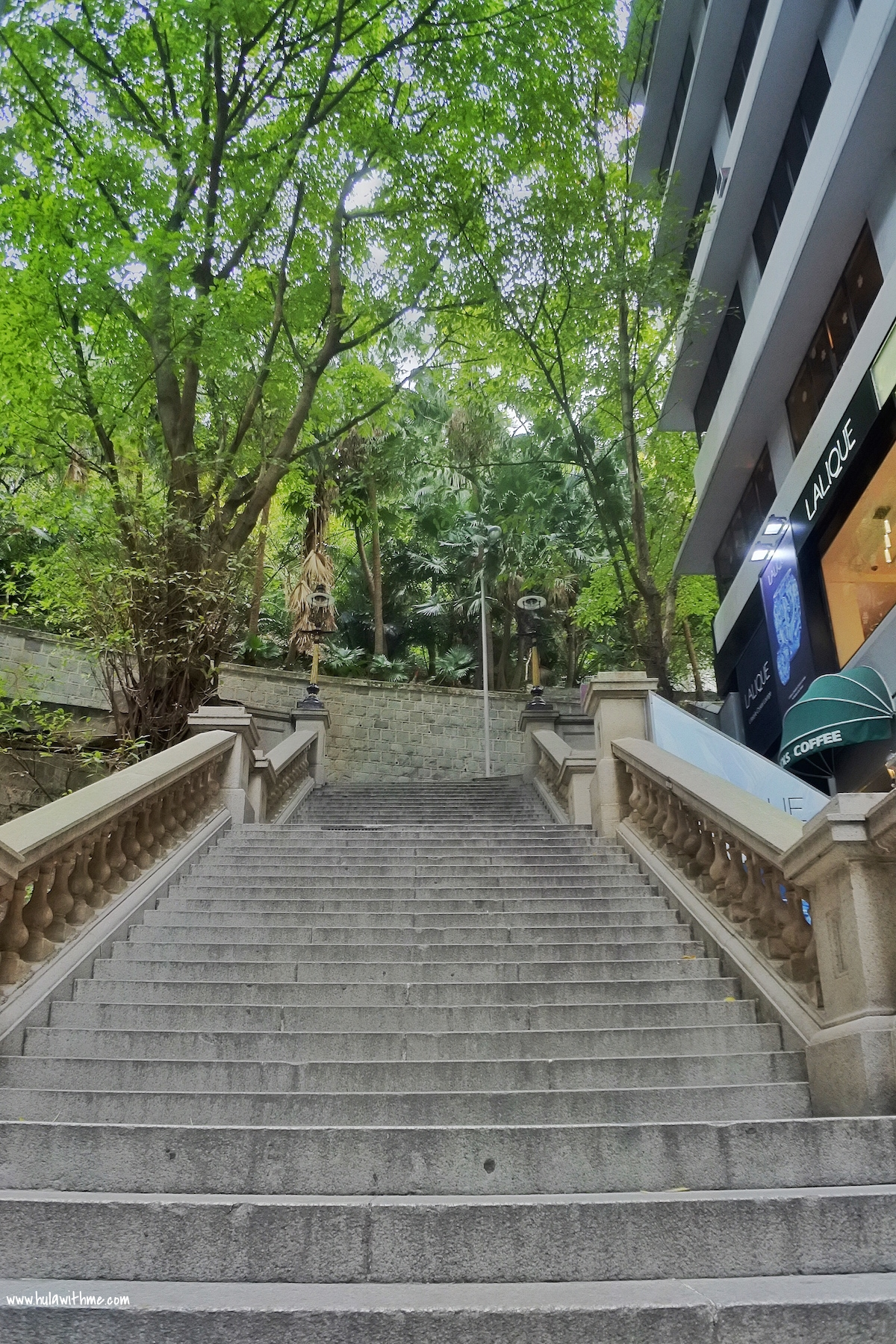 Looking Up The Steps - You can still see some remnant of colonial Hong Kong.