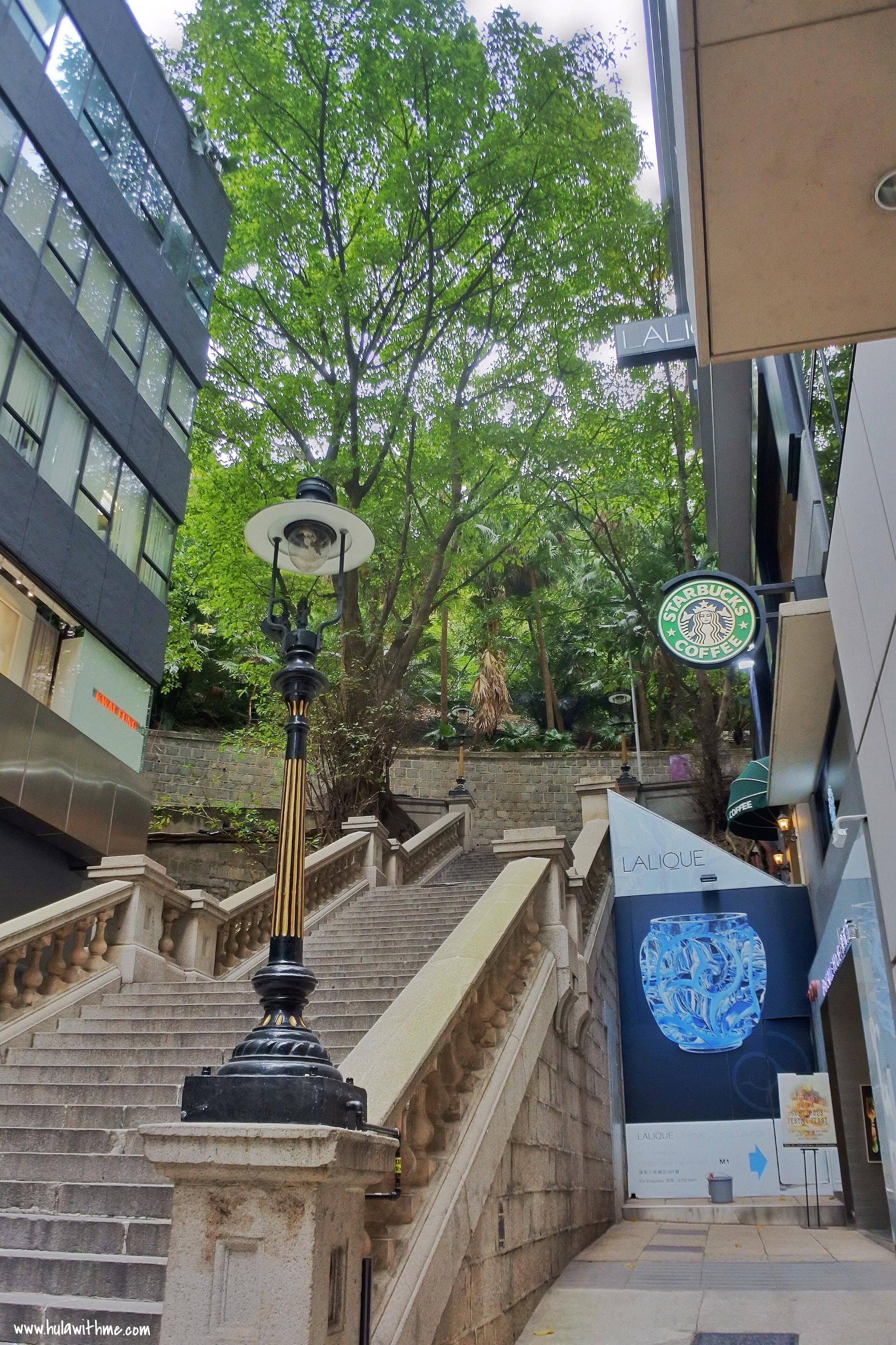 Hong Kong Duddell Street Gas Lamps. Part of Hong Kong's British Colonial history.