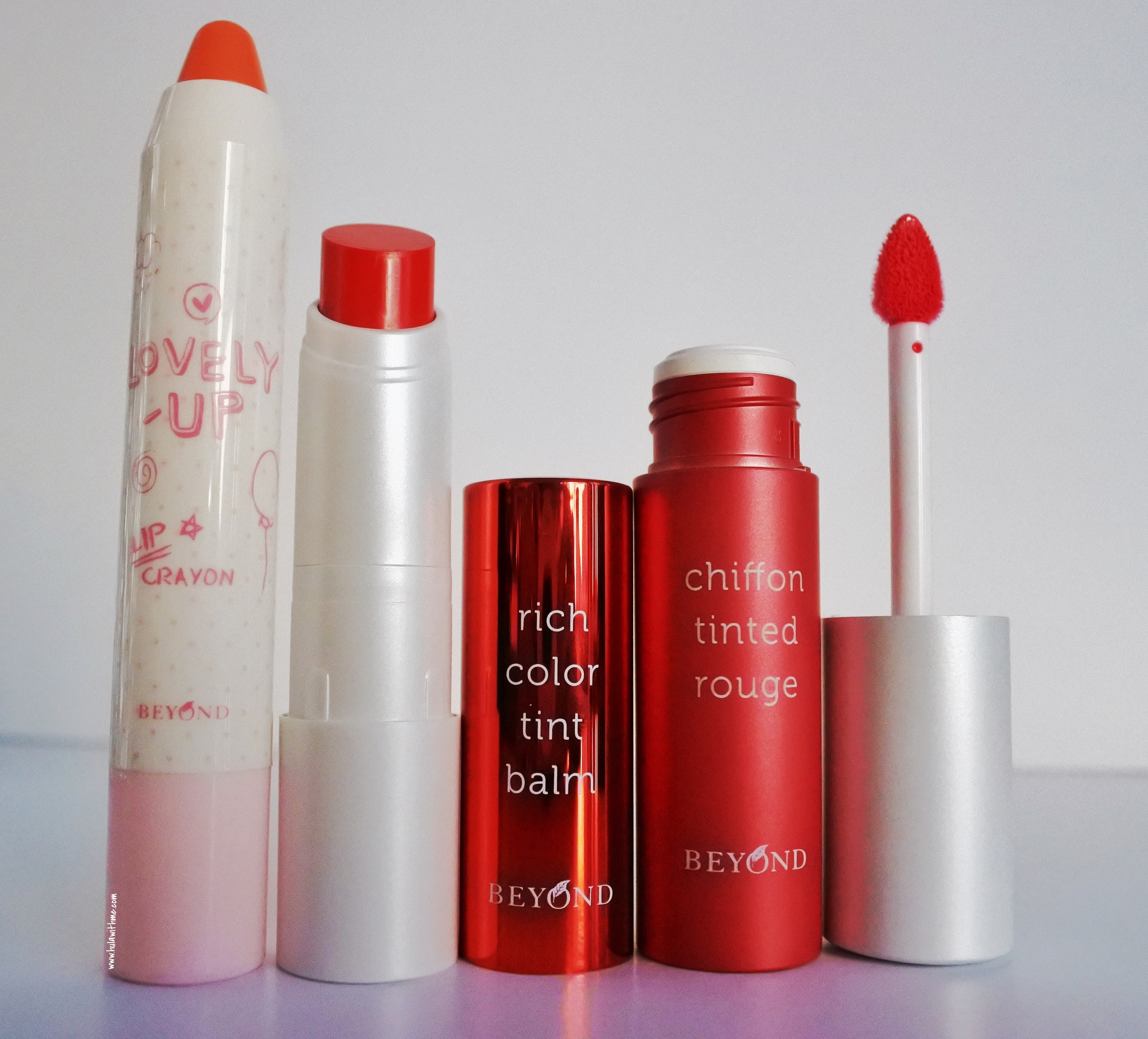 Lip crayon, lip balm, tinted lip from Beyond Beauty.