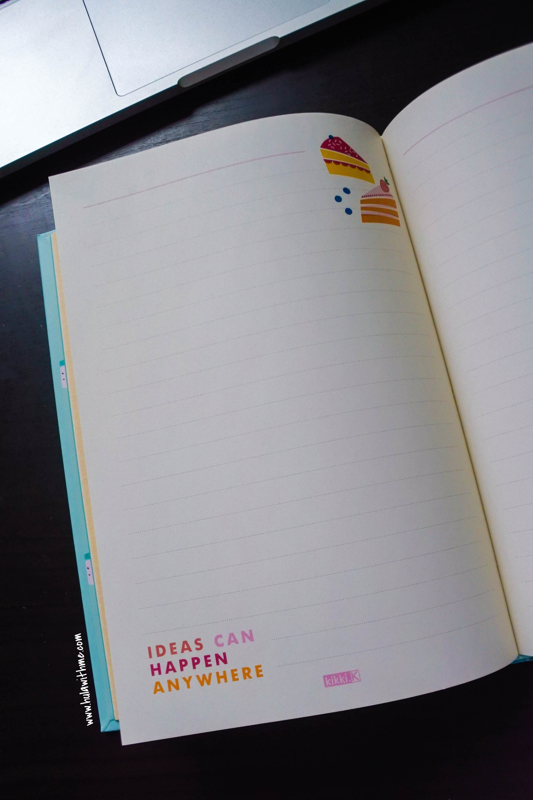 "Kikki.K Stationery: The inside pages of the ""Write It Down"" Notebook."