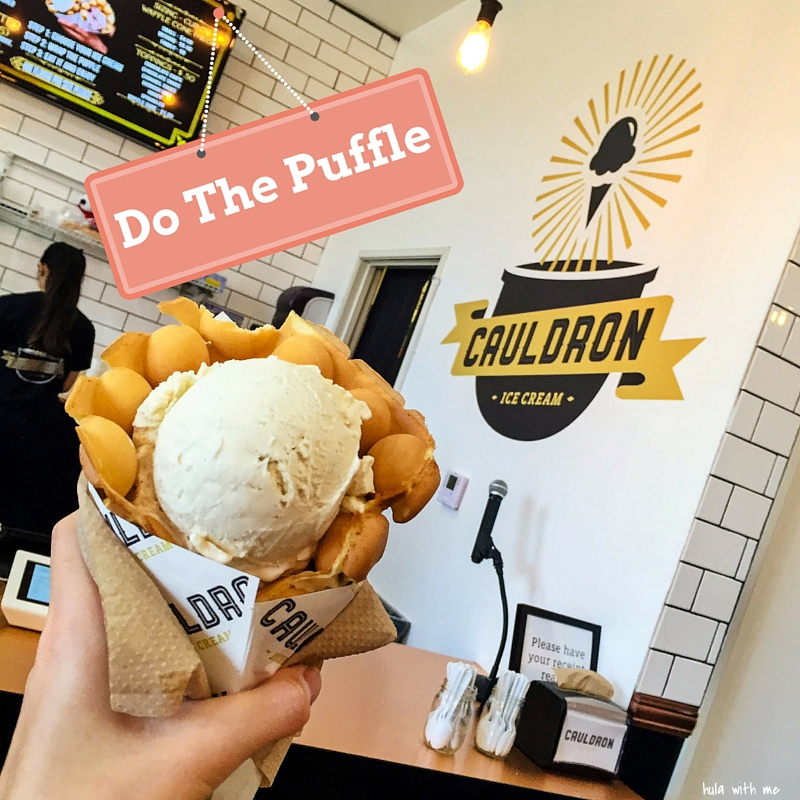 "The famous ""puffle"" at Cauldron Ice Cream in Orange County, CA."