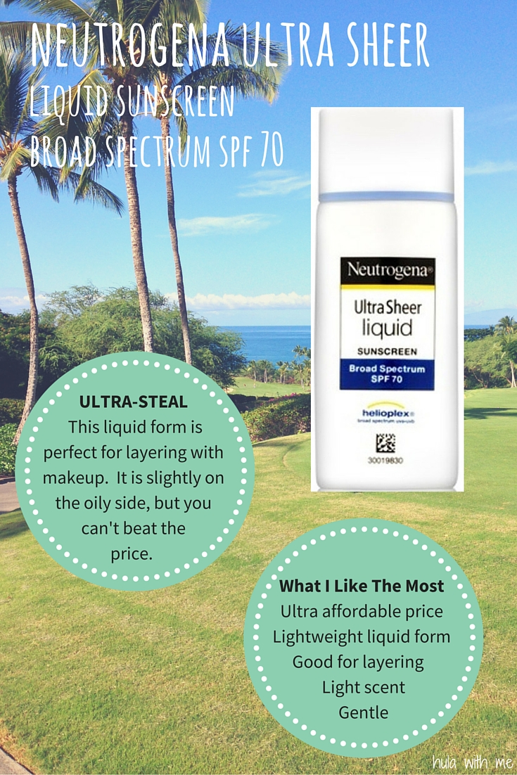 Neutrogena Ultra Sheer Liquid Sunscreen Broad Spectrum SPF 70