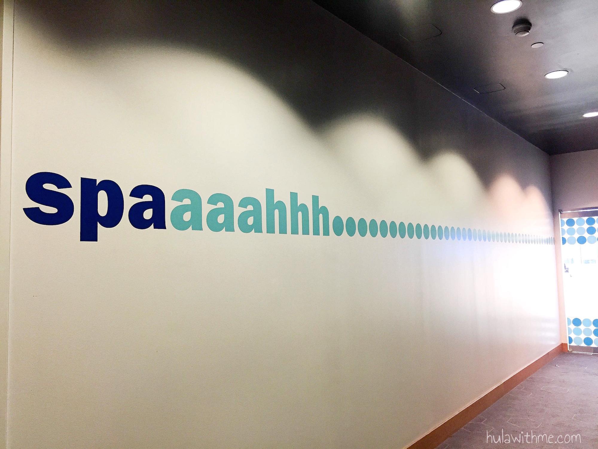 "Bliss Spa in Boston, MA: The ""Spaaaahhh"" entrance."