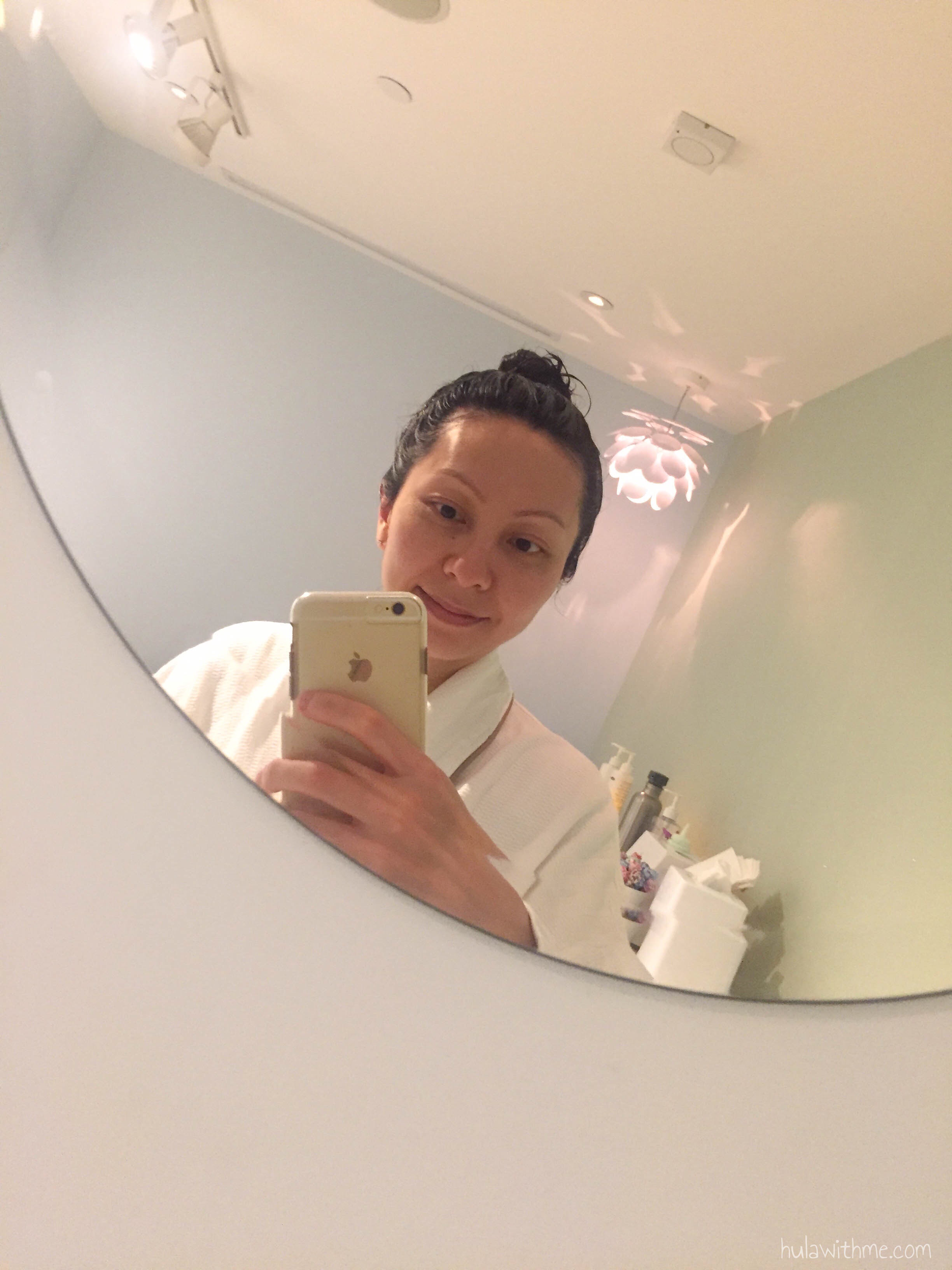 Bliss Spa in Boston, MA: Inside the facial treatment room.