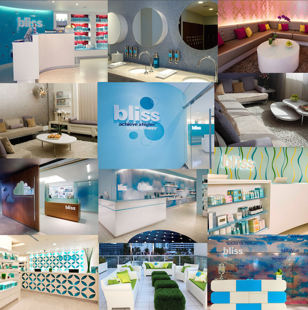 Bliss Spa in the U.S. (From top left) // Chicago, Atlanta, Hoboken, Soho NYC, 49 NYC, Dallas, Hollywood, Scottsdale, San Francisco, Fort Lauderdale, South Beach, Washington D.C..