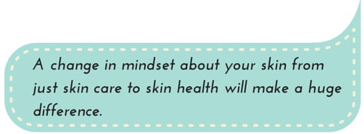Skin Health Eating Habits: A change in mindset about your skin from just skin care to skin health will make a huge difference.