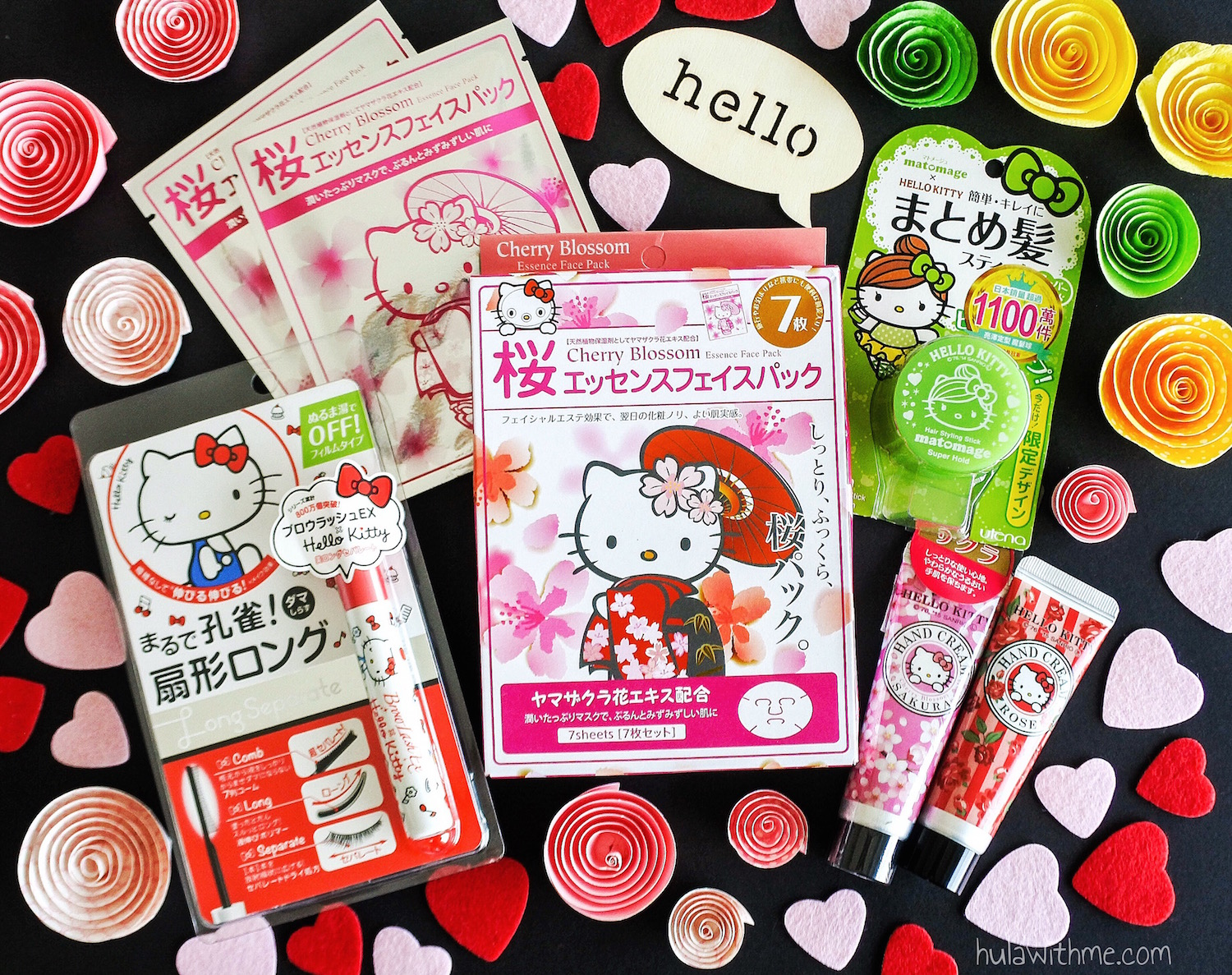 Sharing Hello KItty beauty products from Hong Kong.