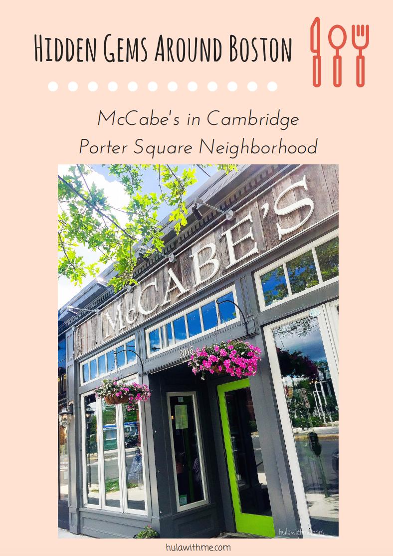 Sharing hidden gems around Boston - Brunching at McCabe's in Cambridge's Porter Square neighborhood.