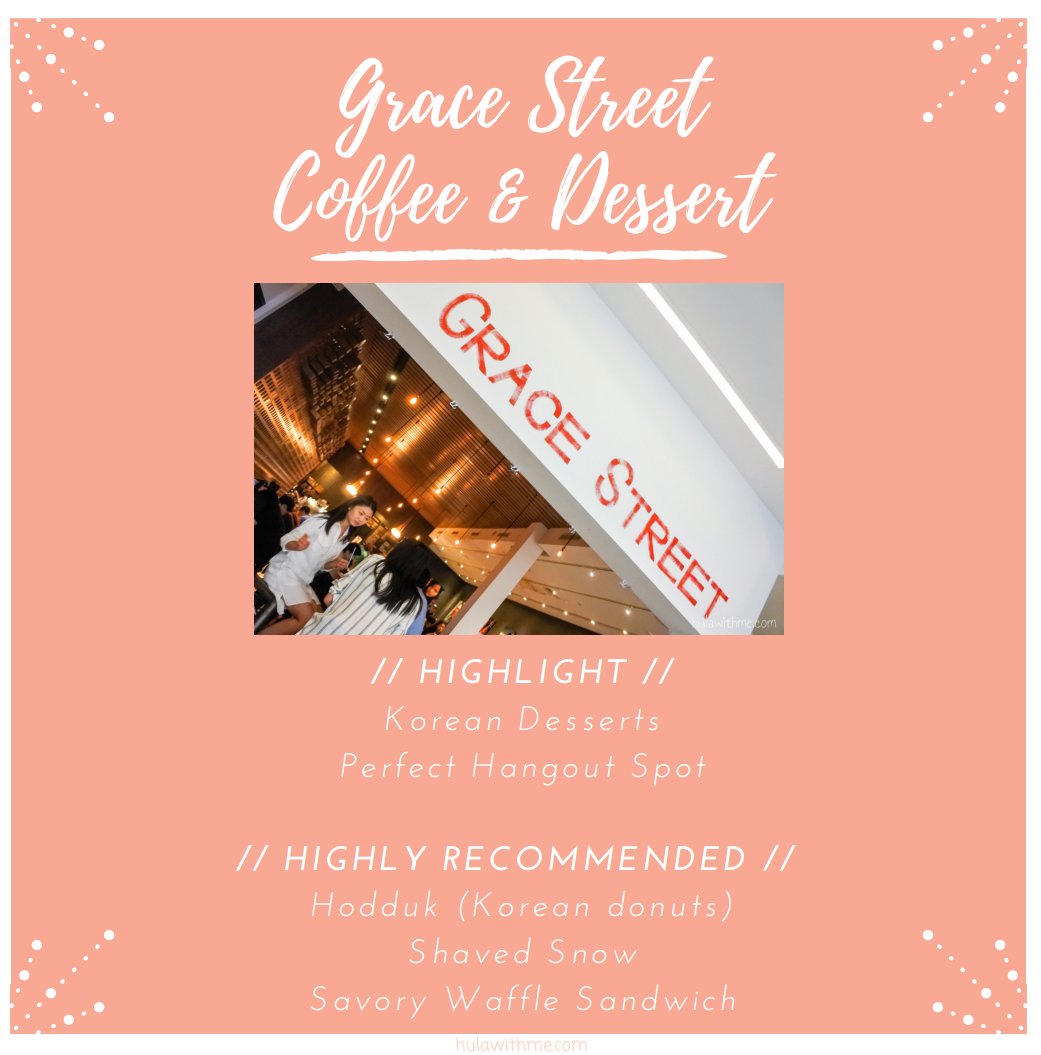 Sharing my 24-Hours Adventure in NYC // Fueling up for the shopping spree at Grace Street Coffee & Dessert.  Highlight // Korean Dessert and Perfect Hangout Spot  Highly Recommended // Hodduk (Korean donuts), Shaved Snow, Savory Waffle Sandwich