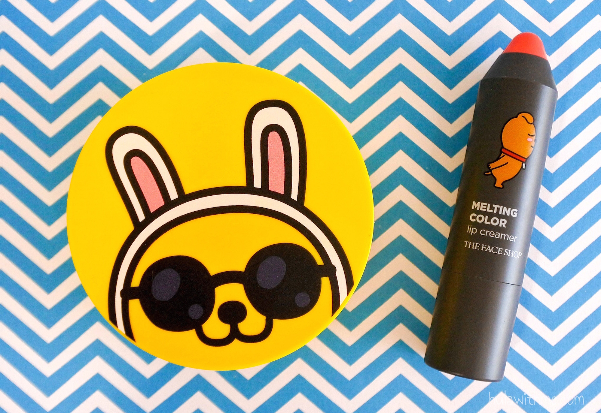 Reviewing The Face Shop x KaKao Friends Sunscreen Cushion + Lip Creamer.