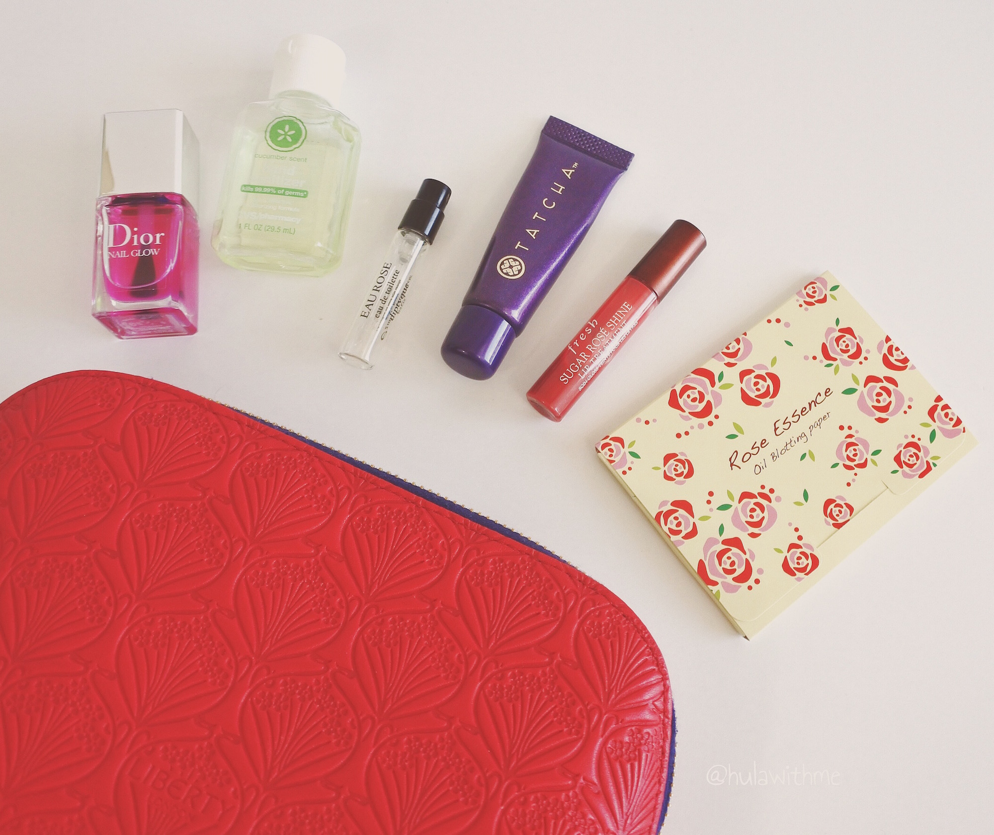 Sharing my travel essentials - what's in my carryon cosmetic bag.