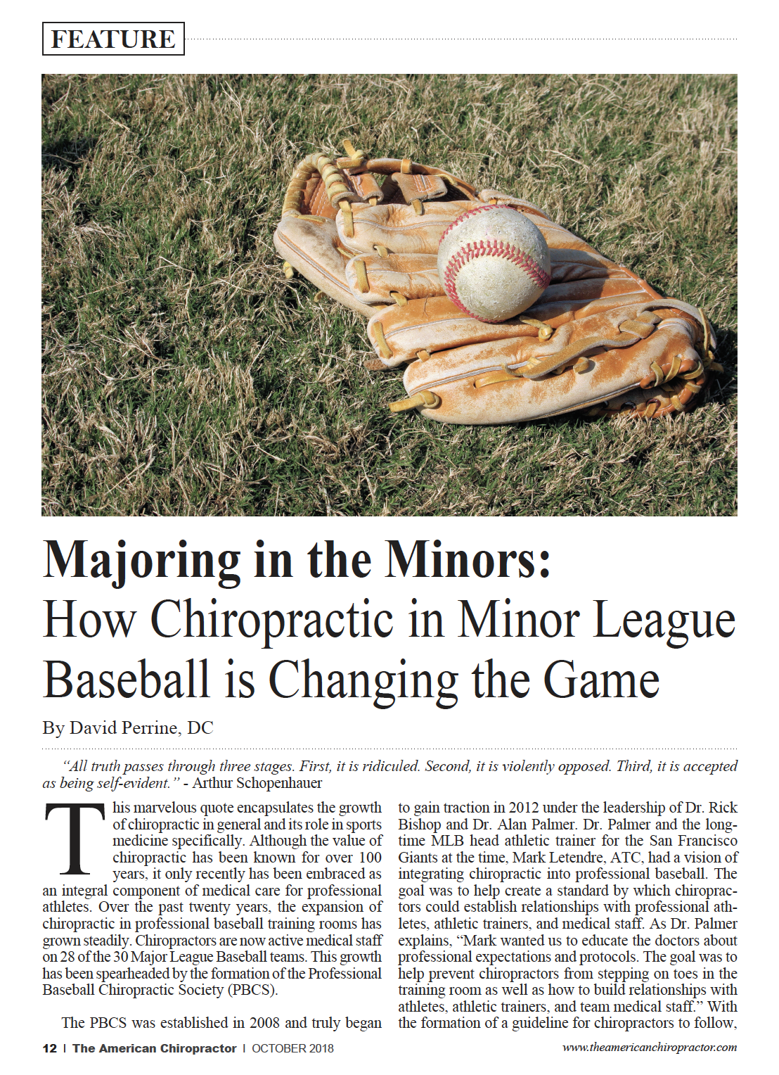 Majoring in the Minors Article