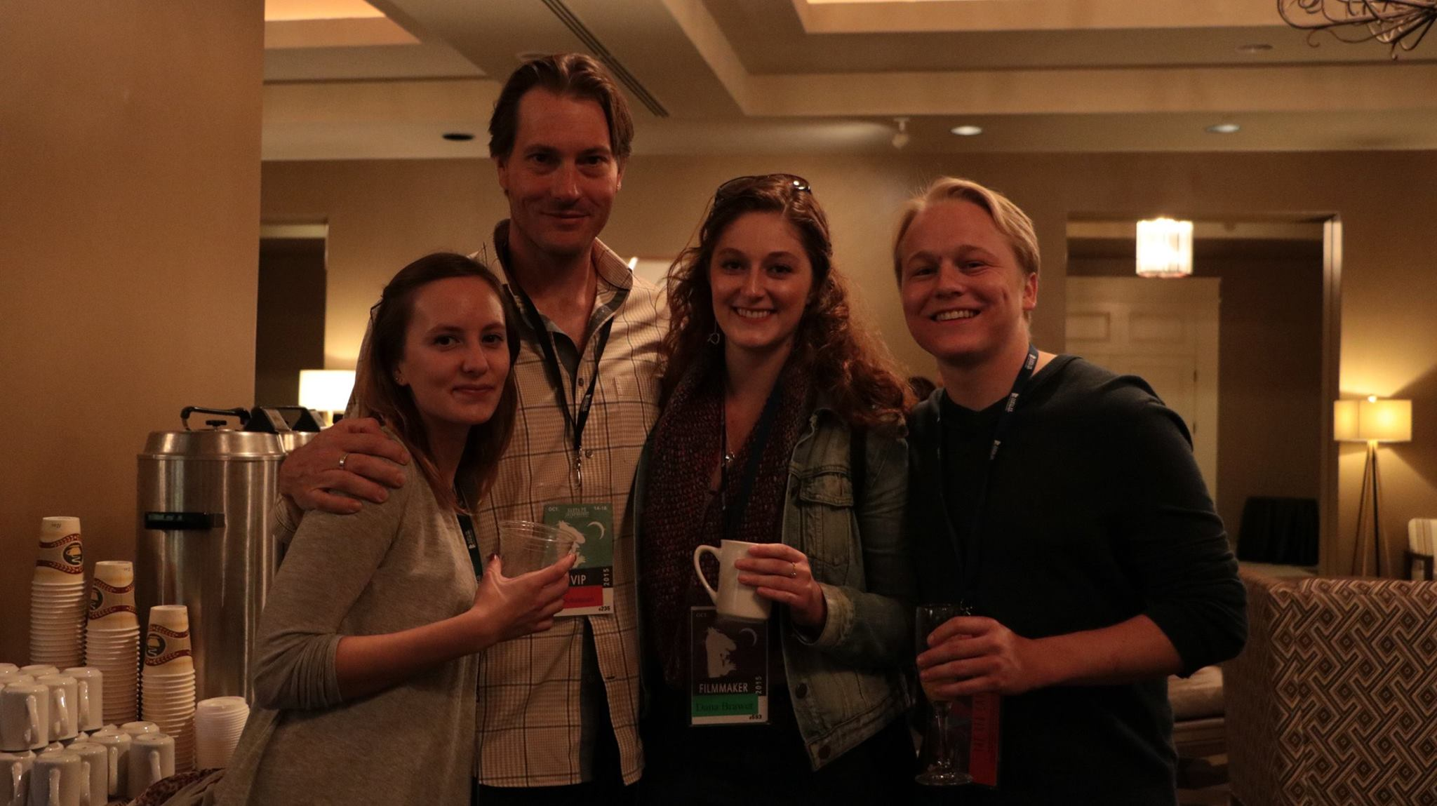Sean Lee & Dana Brawer with fellow filmmakers