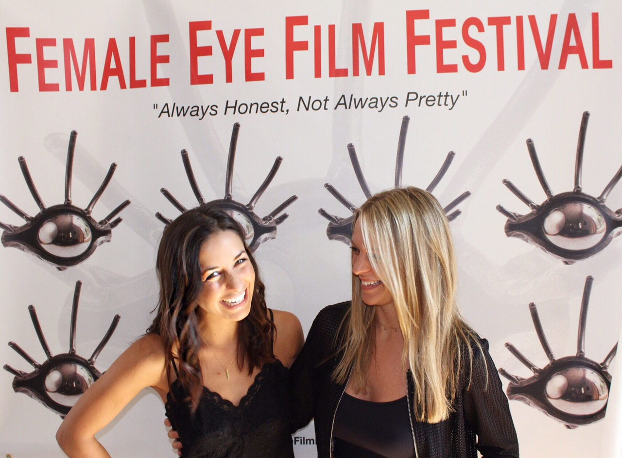 Writers/producers/actors Adriana Leonard & Jenna Michno on the red carpet