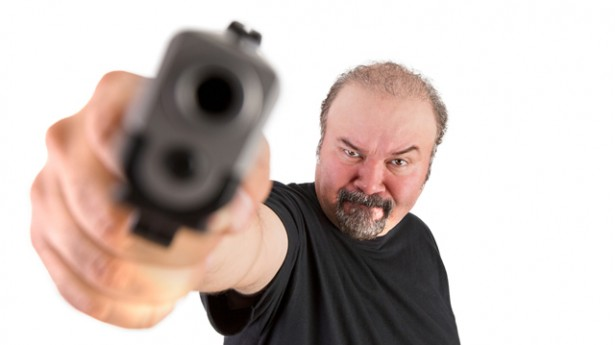 angry white guy stock photo