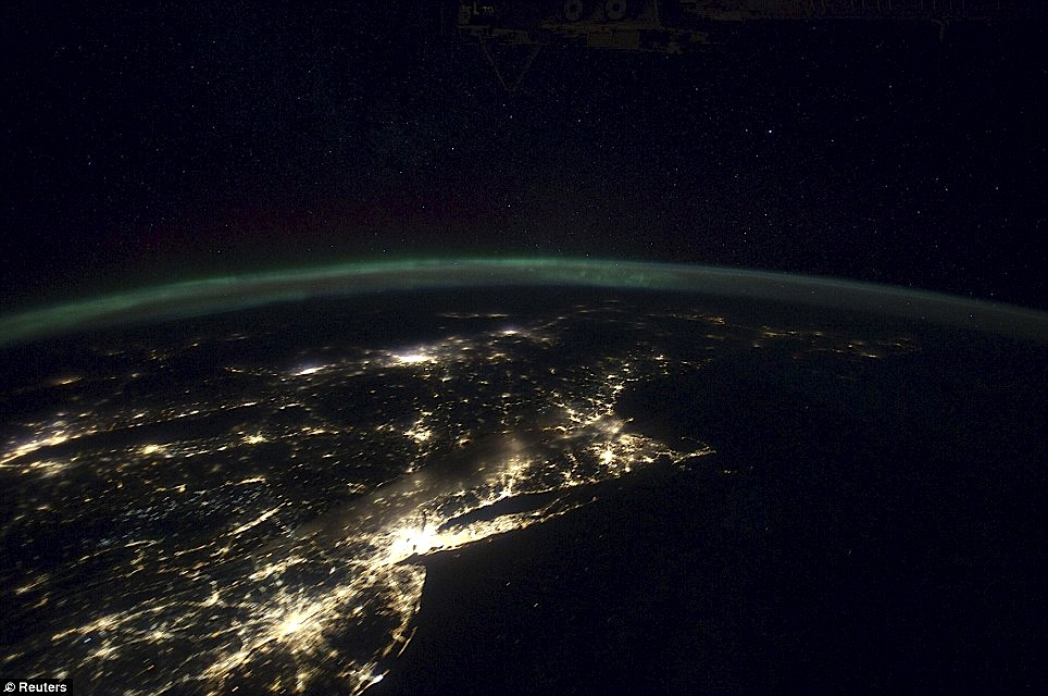 New York and Philadelphia from ISS