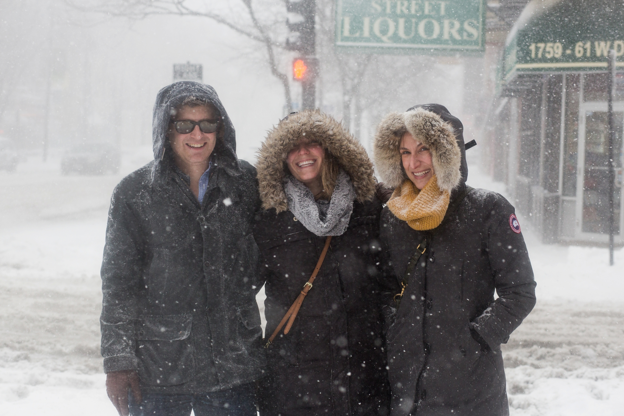 Doug, Amy and Mari braved the cold for Lunch on W. Division Street.