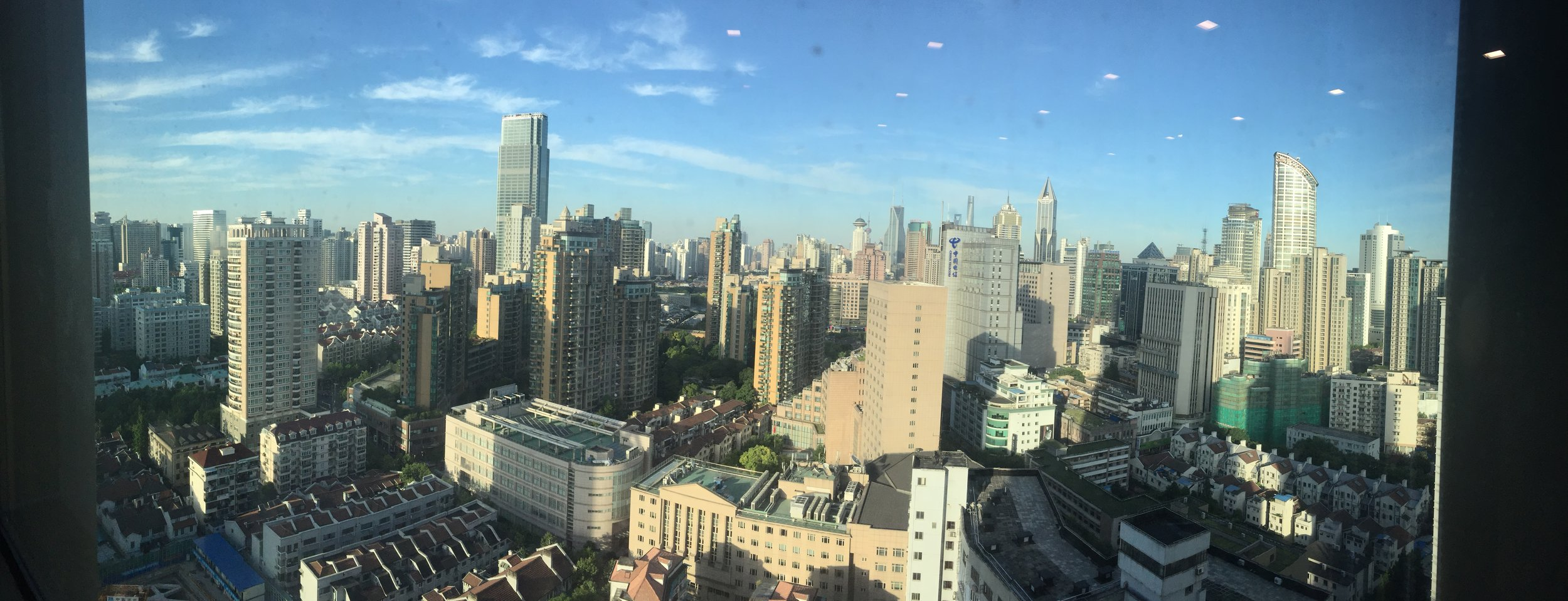 View from lawyer's offices in Shanghai