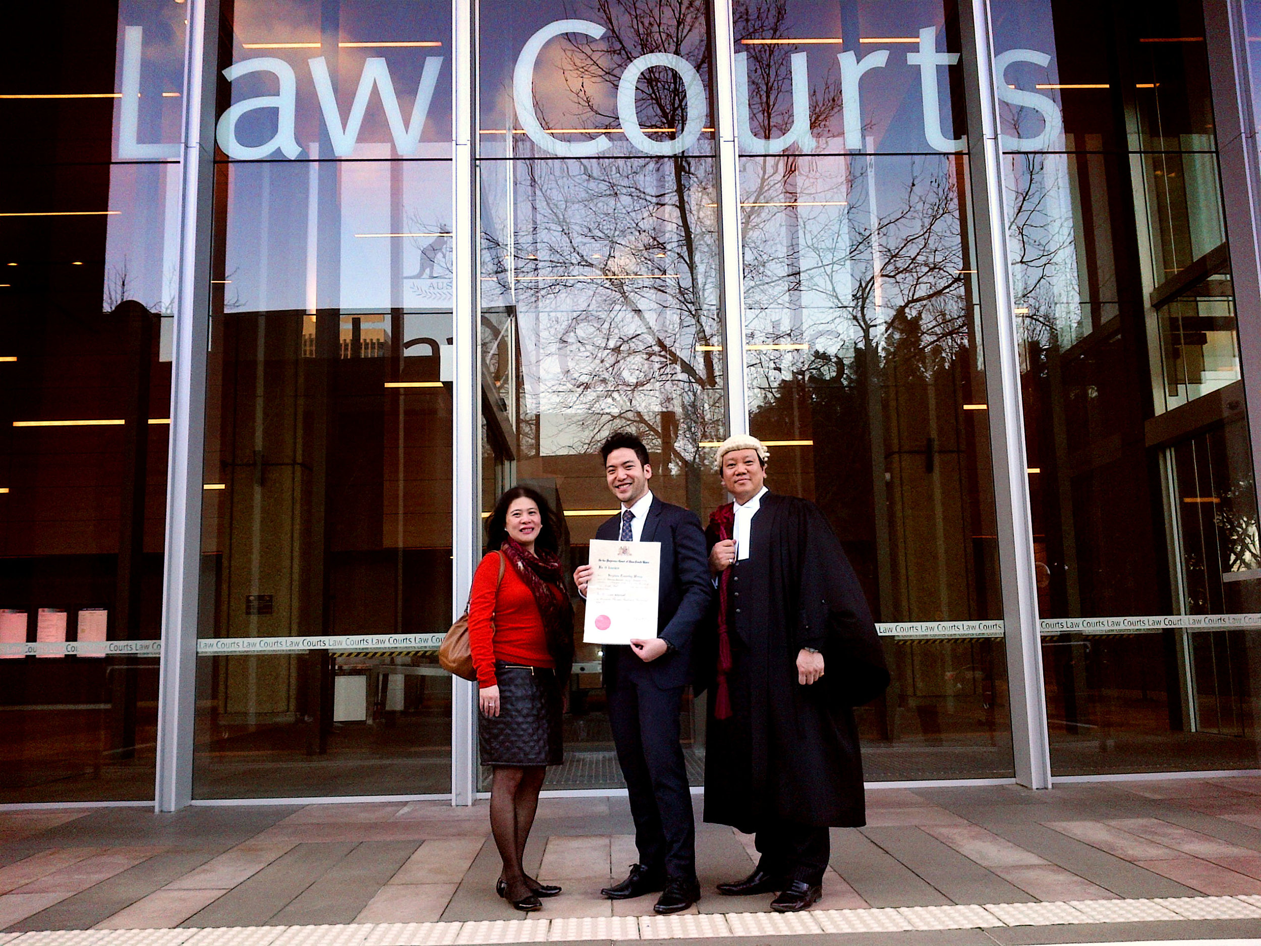 Moving my former Senior Legal Assistant's admission in the Supreme Court of New South Wales