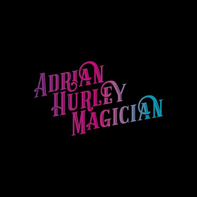 The final logo concept presented to @adrian.hurley.magician using a gradient across the word mark. . . . . . . #branding #typography #logodesinger #logolove #identity #gradient #freelancedesign #freelancedesigner #freelancegraphicdesigner #freelancebrandingdesigner #dubai #dubaidesigner #designer #designerdubai #graphicdesign #graphics
