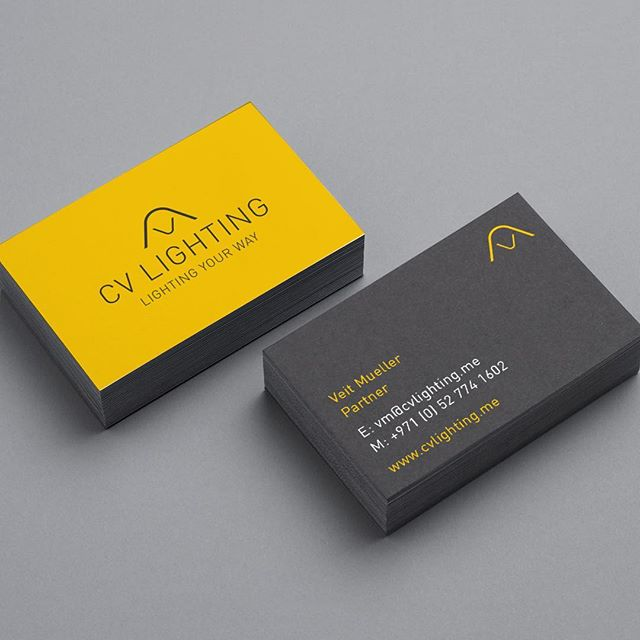 This was an alternative concept presented to the client to for the CV lighting brand. . . . . #brand #branding #brandingdesign #brandingdesigner #graphicdesign #graphicdesigner #freelancedesigner #dubaidesigner #dubaidesigner #logodesinger #identity #yellowandgrey #greayandyellow #typography #stationery #businesscards #logodesinger